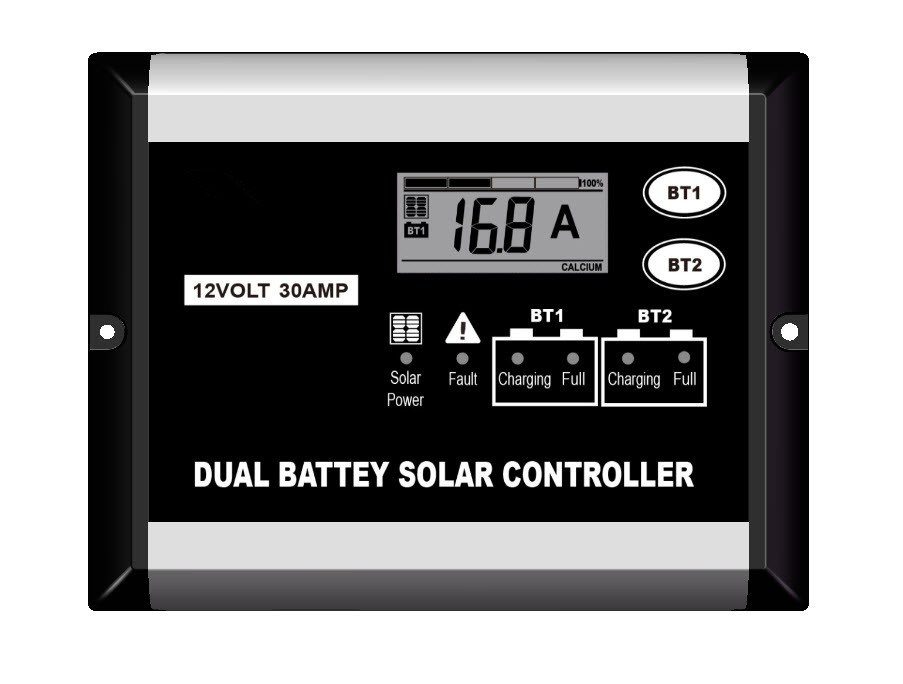 30A Dual Battery Solar Charge Controller